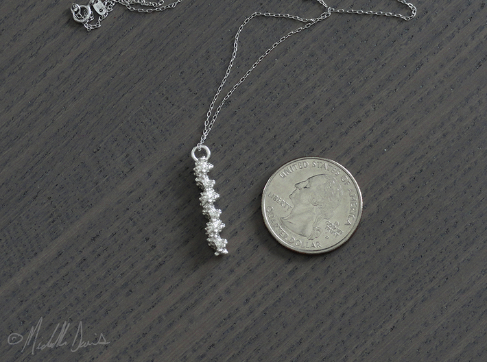 Molecular DNA Pendant 3d printed See how to purchase a chain below.