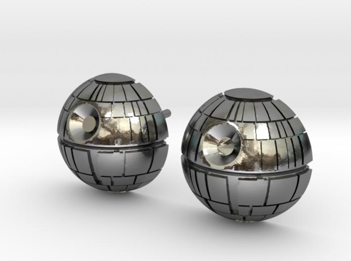 Death Star Studs 3d printed