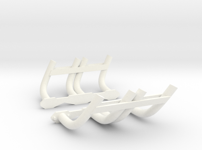 1:8 Zoomie Style Headers for Small Block Chevy 3d printed