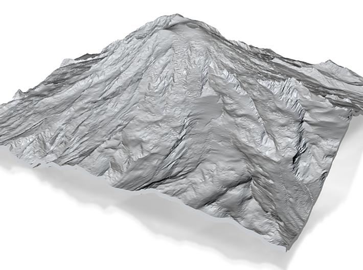 Mount Rainier (25cm square, 3mm thick) 3d printed