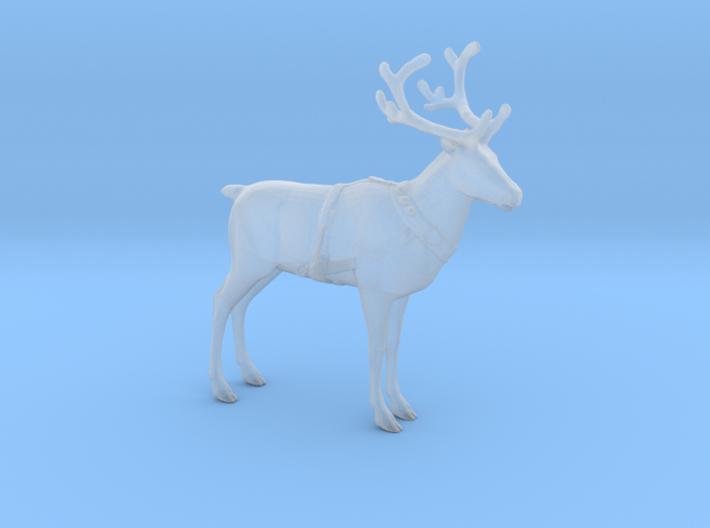 Reindeer Standing Medium w/Harness 3d printed