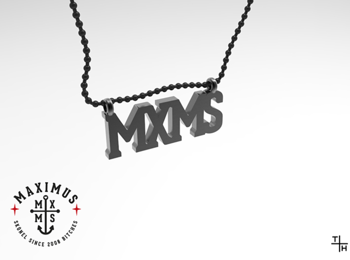 Necklace: MXMS 3d printed 2 mm ballring chain