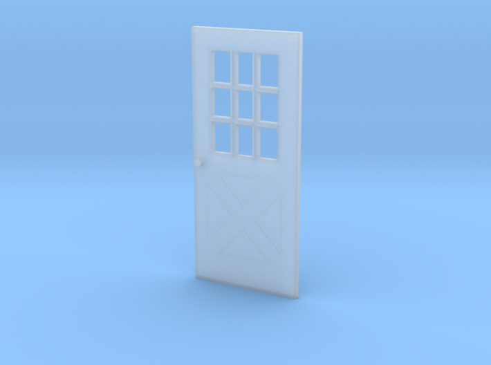 1:64 scale Exterior door with cross pattern 3d printed