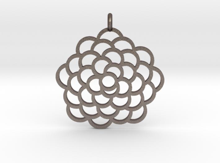 Fibonacci Pinecone Pendant 3d printed