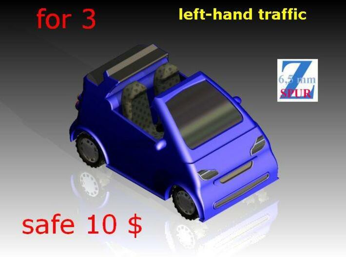 3x Smart cabrio (1/220) # 3d printed Modellbild