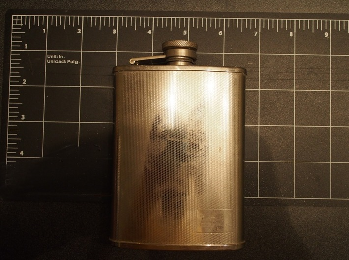 1/6 Scale Metal Drinking Flask 3d printed Real flask it was designed after