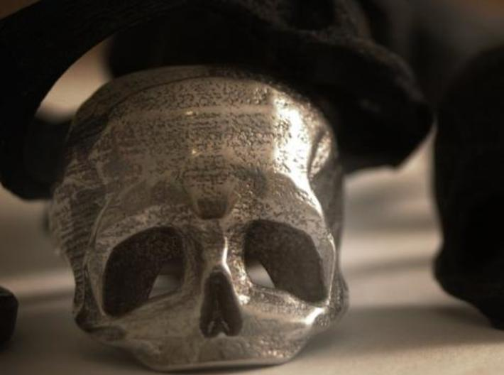 Skull Ring US 11 3d printed stainless steel skull ring