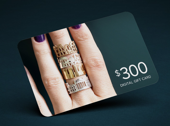 $300 Digital Gift Card 3d printed