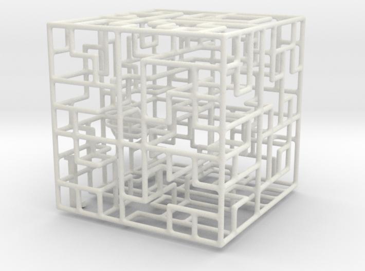 Escher's Playground 3D Maze Cube 3d printed