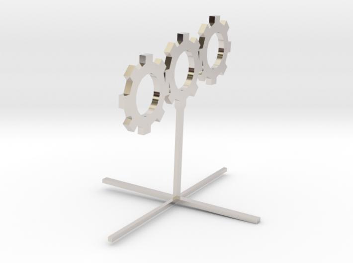 Sprocket_Sculpture 8cm tall 3d printed