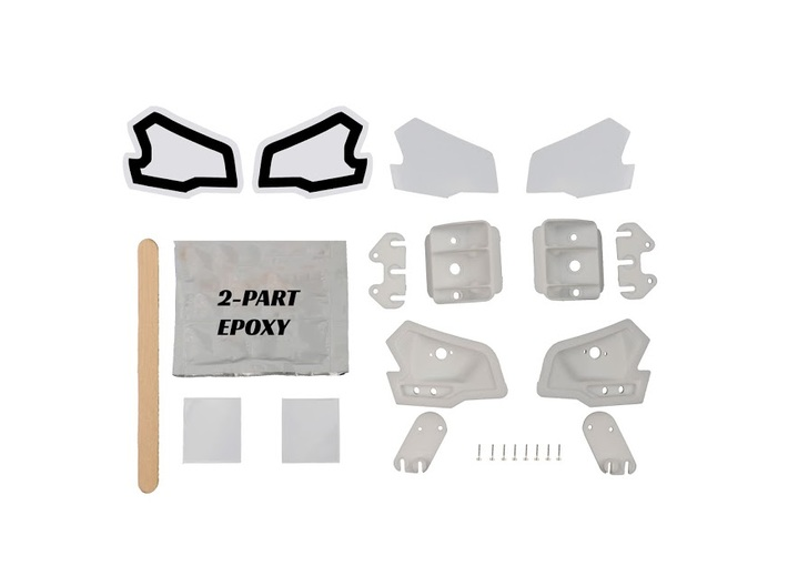 MYK-3TX002 XMAXX Tail Light Buckets 3d printed Paint Mask Decals, screws, and adhesive sold separately