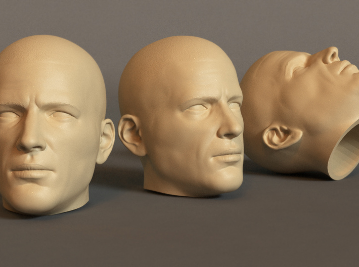 Generic Male Head for 1/6 scale figure 3d printed