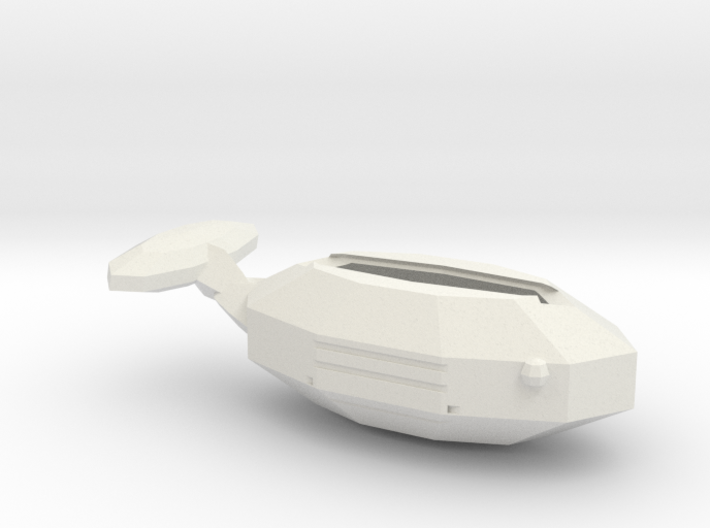 Whale side tray 3d printed