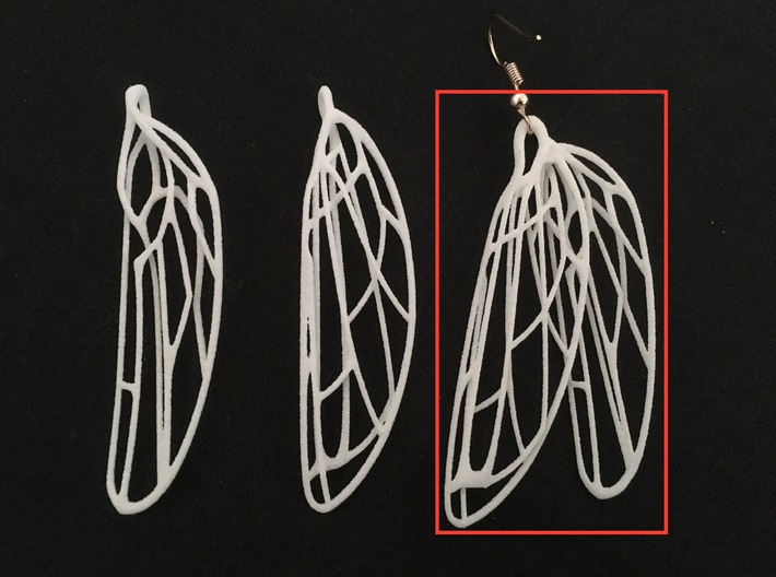 Dragonfly ear wing L Odonata N° 1  3d printed