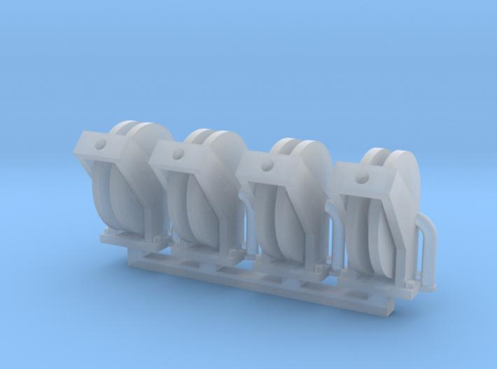 Hose Reel Large Spool 4pack 1-64 Scale 3d printed