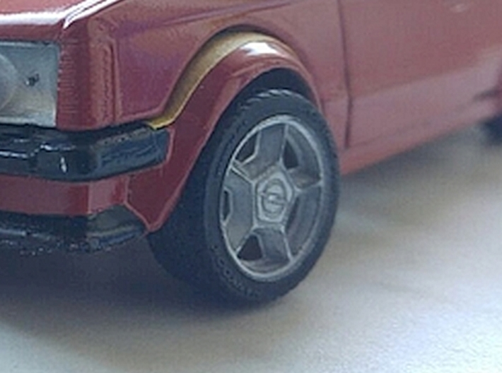 "1/24 Rim Set 16"" ATS Opel 3d printed Picture shows painted sample"