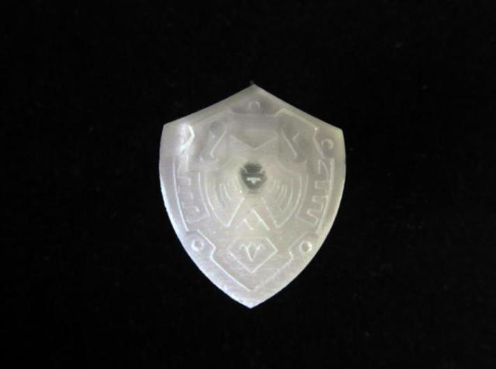 Hero's Shield I 3d printed Frosted Ultra Detail