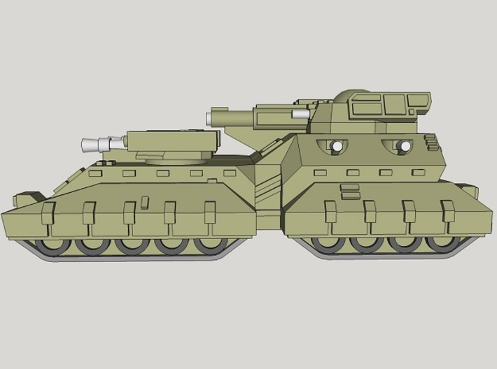 3mm Team Kukri Superheavy Tanks (2pcs) 3d printed
