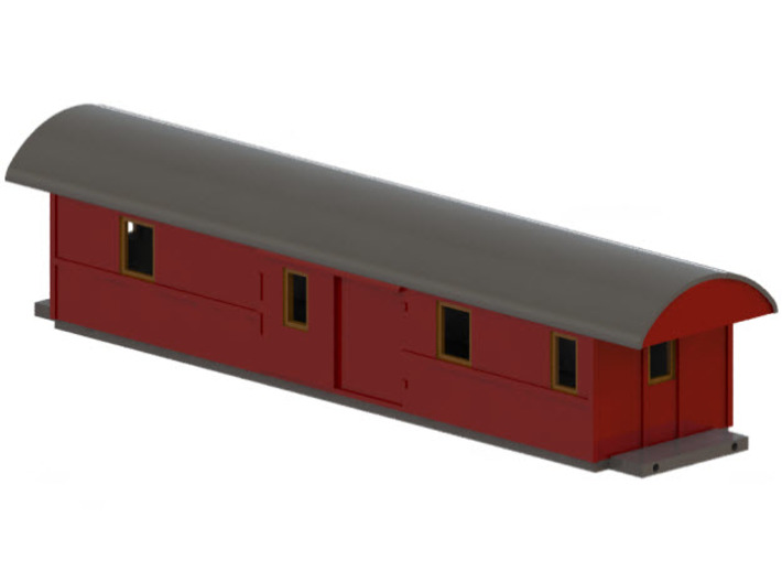 F5 - Swedish passenger wagon 3d printed CAD-model