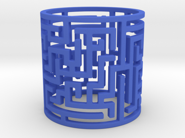 Puzzle Tunnel Ring Size 7.5/55.5 3d printed