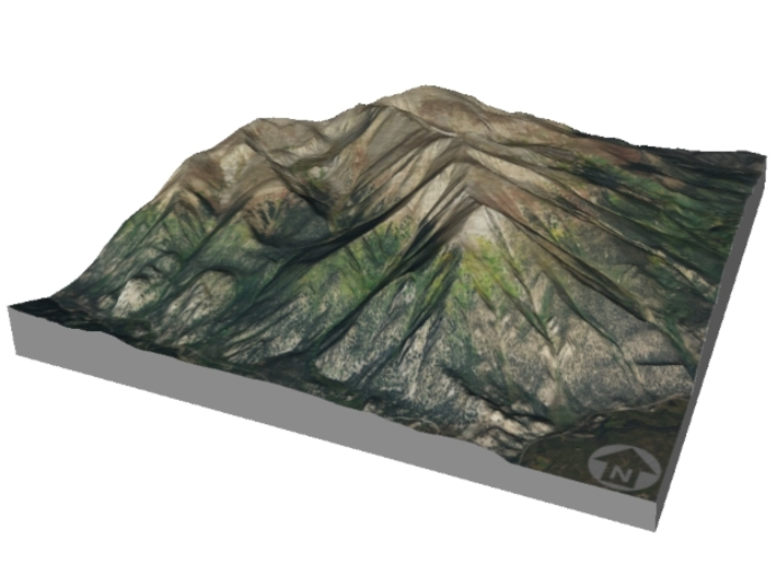 "Mount Elbert Map: 6""x9"" 3d printed"