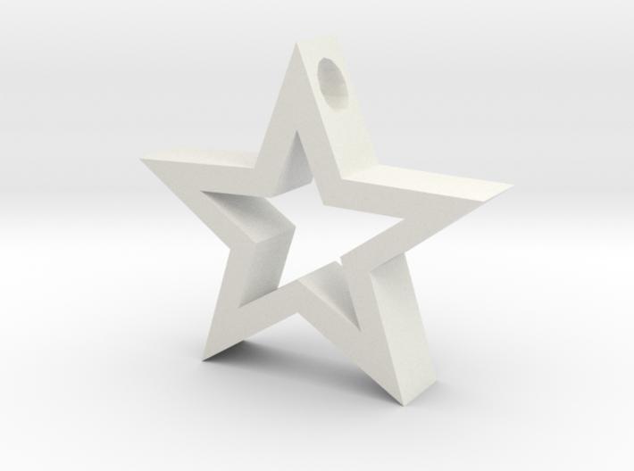 Star pendant. 3d printed