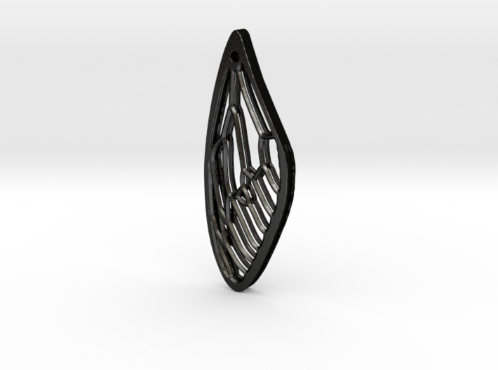 Cicada Wing Pendant - Outside 3d printed