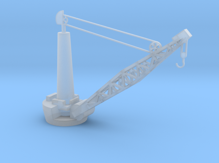 1/72 Scale Scale Battleship Boat Crane 3d printed