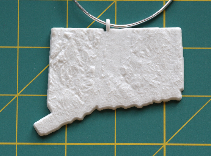 Connecticut Christmas Ornament 3d printed