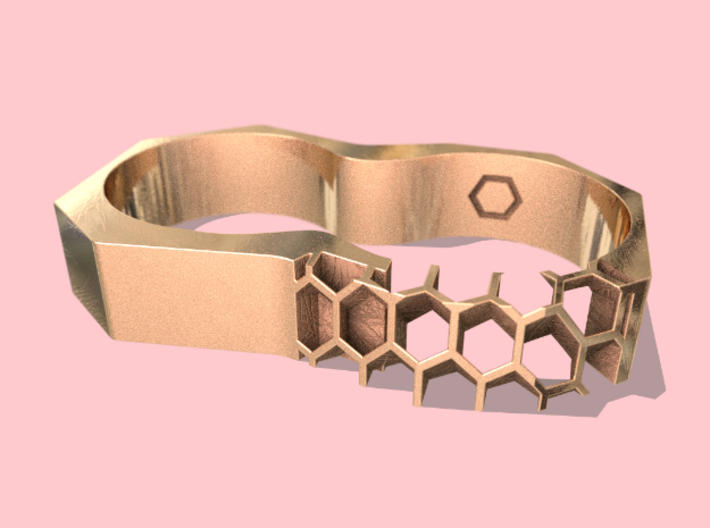 Partially Exposed - 2 Finger Ring 3d printed