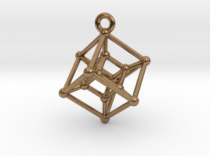 Hypercube Pendant 3d printed