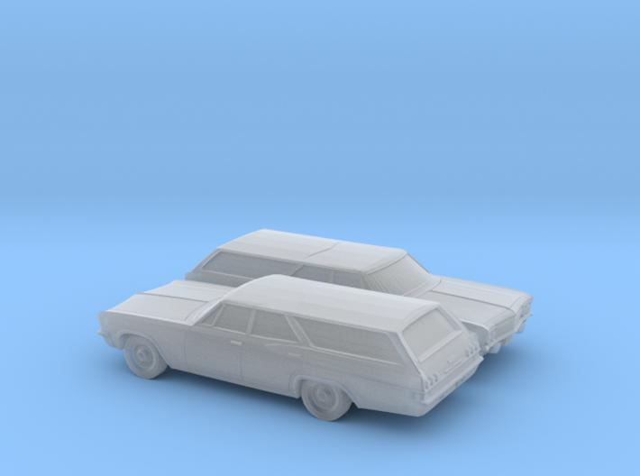 1/160 2X 1965 Chevrolet Impala Station Wagon 3d printed