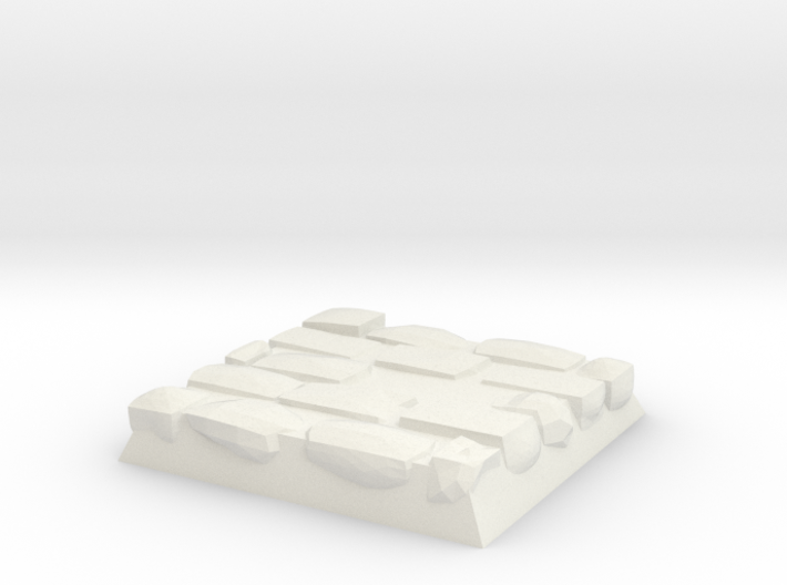 Cobble Stone Base 3d printed