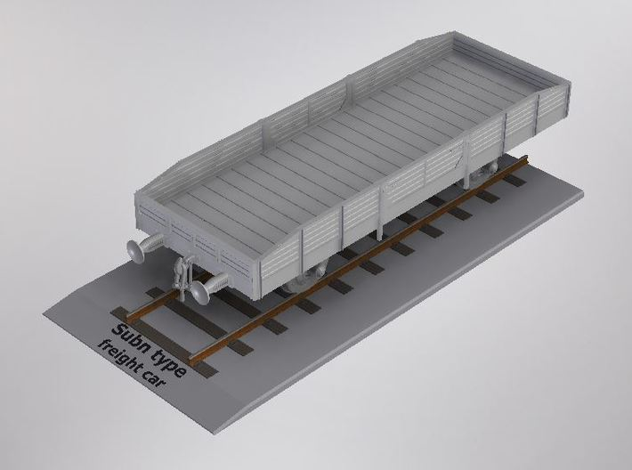 1/72nd scale Subn type freightcar 3d printed