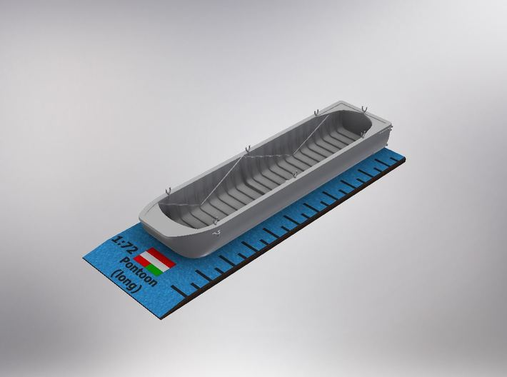 1/72nd scale Austro-Hungarian pontoon (long) 3d printed