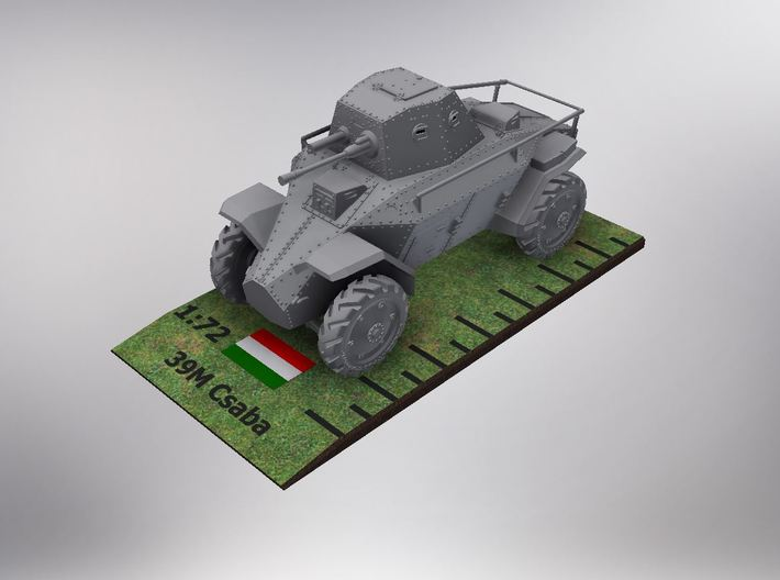 1/72nd scale 39M Csaba hungarian armoured car 3d printed