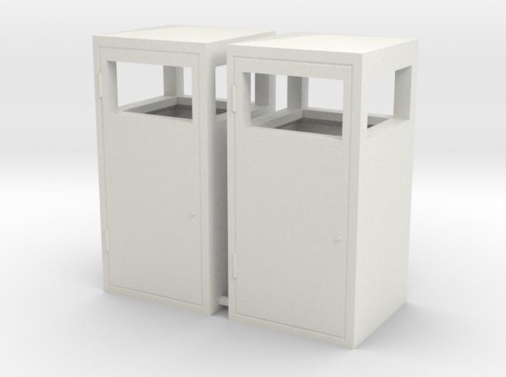 1:24th scale trash bins 3d printed