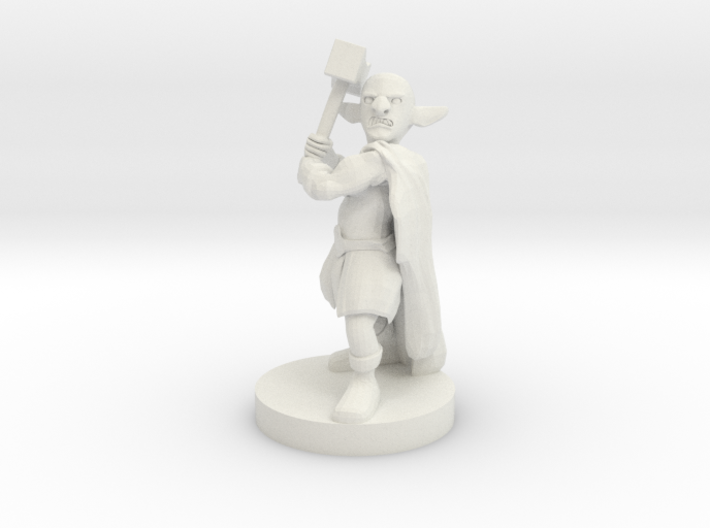 Deep Gnome Barbarian 3d printed