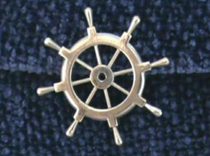 Captain's Wheel Pendant 3d printed Pendant for Captains and First Mate