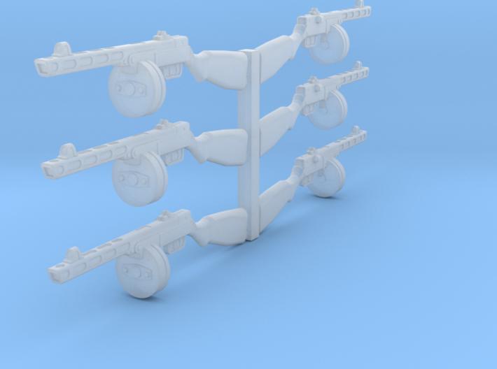 1/24 PPSh-41 machine gun 3d printed