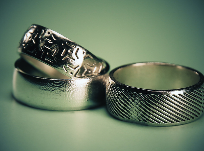One Ring Design 3d printed Other Custom Designs Available
