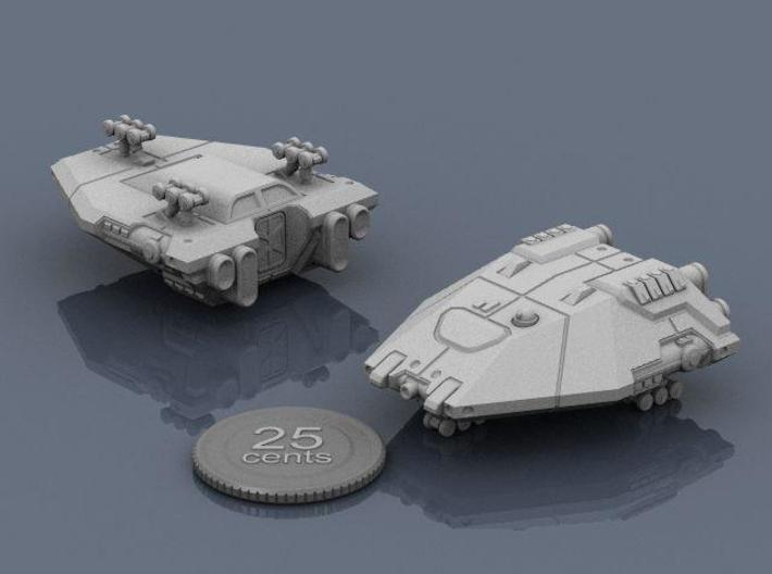 Planet Hopper 3d printed Renders of the model, with a virtual quarter for scale.