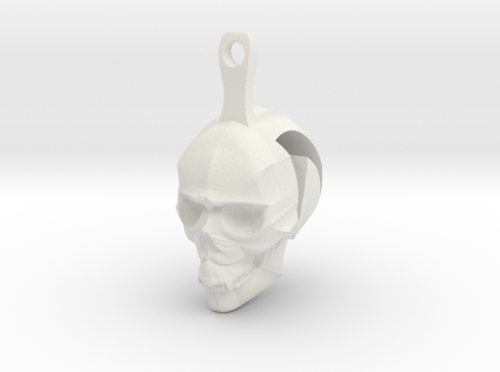 Skull Earrings Halloween 3d printed