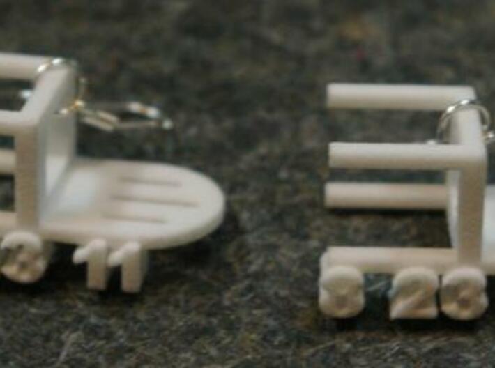 Earthquake Chair Earrings 3d printed chairs