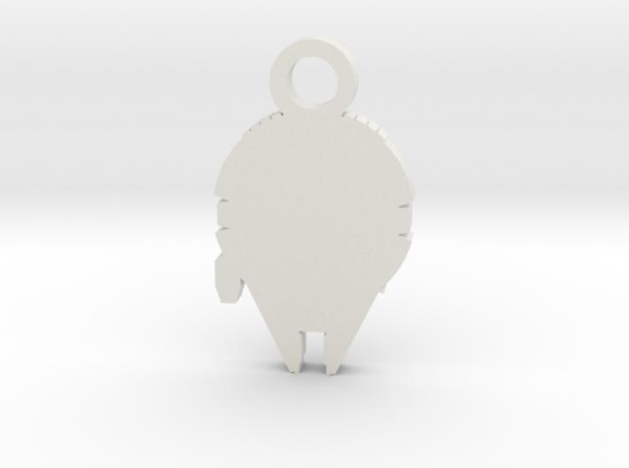 Millennium Falcon Silhouette Charm 3d printed