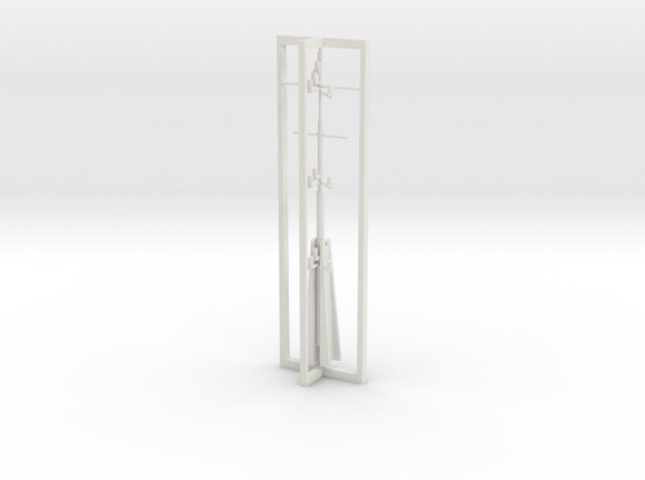 Mast, complete 1/50 fits Harbor Tug 3d printed