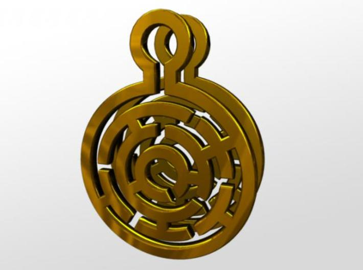 Maze Earrings 3d printed front
