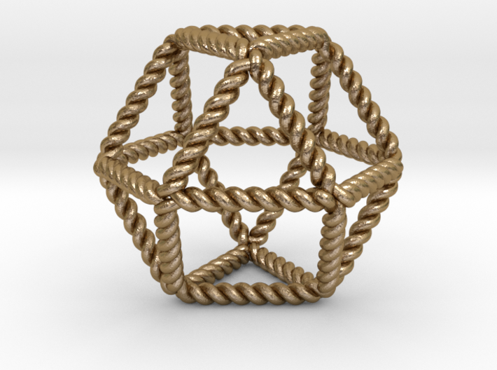 """Twisted Cuboctahedron RH 2"""" 3d printed"""
