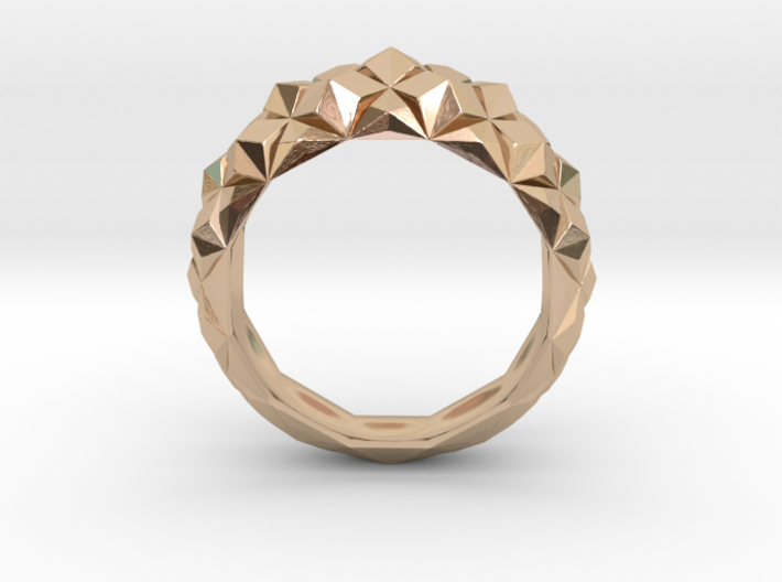 Geometric Cristal Ring 1 3d printed