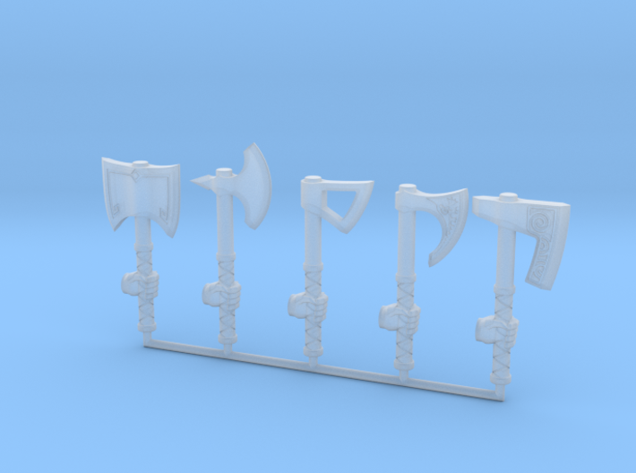 Miniature Axe Collection (left hand) 3d printed